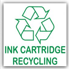 1 x Ink Cartridge Recycling Bin Adhesive Sticker-Recycle Logo Sign-Environment Label